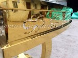3,6M variável diâmetro acabamento de ouro de Aço Inoxidável parte moderna mesa com a melamina Desktop