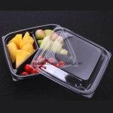 Alimento claro transparente de Supermaket/rectángulo/bandeja de empaquetado de la fruta