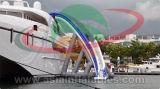 Trasparenza di acqua di galleggiamento dell'yacht gonfiabile usata per il mare
