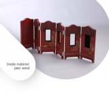 Caja de madera de estilo retro Metal precioso para mostrar