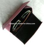 Óculos de couro PU dobrável triângulo transportadora caixa porta-óculos caso
