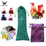 Custom печать небольших кулиской Organza пакет рекламных бархат украшения упаковку Bag роскошный атласный подарок чехол украшения сумки
