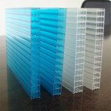Folha de policarbonato com proteção de perímetro de bolhas para substituição das clarabóias
