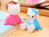 Adorable Hello Kitty Cat forma animal de silicona de PVC blando soporte para teléfono móvil celular