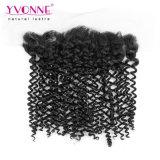 Yvonne-malaysische lockige Spitze frontales 13.5*4 Wholesale Haar