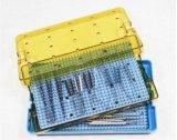 Cassetti di plastica autoclavabili di sterilizzazione di doppio strato per gli strumenti chirurgici (P501)
