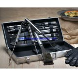 Parrilla de acero inoxidable de grado alimenticio conjunto de herramientas 10 piezas