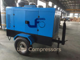 De goedkoopste 7bar 8bar Mobiele Compressor van de Lucht van de Dieselmotor