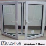 Стабилизированный Casement алюминиевое стеклянное Windows с отверстием щетки замка формы луны для варианта