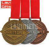 Premio del deporte de metal personalizados medallones de recuerdo para la chimenea