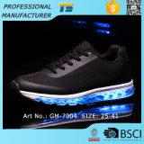 2017 leuchtender laufender SchuhMens USB des Luftpolster-Turnschuh-LED nachladbar