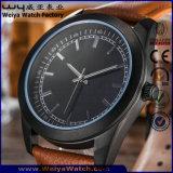 Orologio classico su ordinazione delle signore della cinghia di cuoio del quarzo (WY-P17014C)