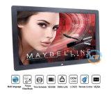 """Exibição de publicidade profissional 17"""" controlo remoto - moldura fotográfica digital de vídeo HD (MW-177DPF)"""
