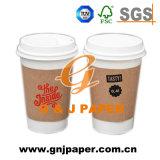 冷たい飲むことで使用される良質のPEの塗被紙のコップ