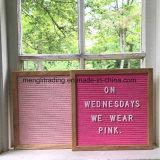 Panneau changeable de lettre ressenti par couleur de rose de décoration de vacances