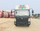 Camion del frigorifero di Sinotruk 4X2 camion di trasporto dei frutti di mare di 5 T