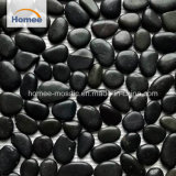 Mosaico nero Polished dei ciottoli della pietra naturale per il mosaico della stanza da bagno della decorazione