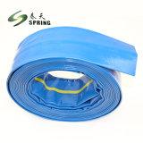 PVC Layflat rojo de la manguera de descarga de agua para riego
