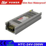 24V 8Um transformador LED 200W AC/DC Fonte de alimentação Comutação HTC