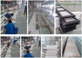 Deur van de Garage van het Glas van het aluminium de Frame Berijpte Transparante