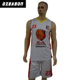 新しいデザインカスタムポリエステル網のバスケットボールのユニフォームのバスケットボールのベスト(BK003)