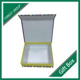 Caixa de jóia de papel rígida Livro-Shaped luxuosa do presente