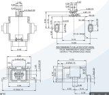 1394 4f USBのコネクターのすくい90度のコネクター