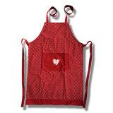Tipo grembiule della busbana francese della tela di canapa di Polycotton della cucina del cotone con la casella anteriore, grembiuli della busbana francese del cotone