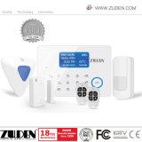 Segurança sem fios domésticas de Alarme de Intrusão GSM com visor LCD e teclado de toque
