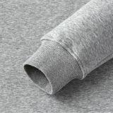 Mens fresco preto tingido planície da camisola do espaço em branco da garganta de grupo