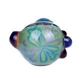 Tubulação de vidro azul de vidro da mão da tubulação da colher da tubulação de fumo da tubulação