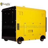 Generatore diesel silenzioso eccellente portatile di monofase 5kw con le rotelle