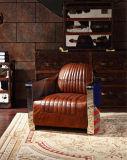 2017 새로운 도착 알루미늄 포도 수확 가죽 사치품 안락 의자
