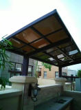 Garagem de alumínio de Carport& com o telhado da folha do PC do policarbonato