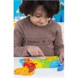 As crianças de madeira de brinquedos educativos Dog Dolphin Puzzle Animal Brinquedos