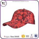 Filetto rosso della superficie del merletto del fiore di alta qualità che incolla un berretto da baseball dei 6 comitati