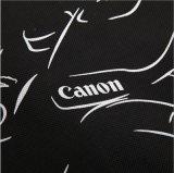 Logo à bas prix promotionnel imprimables de sacs de magasinage réutilisables Non-Woven Noir avec poignées