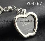 Inner-geformter Metallfoto-Rahmen Keychain für Hochzeit