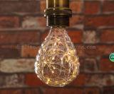 Neues Artweihnachten, das Panzerabwehr- Lampen des kupfernen Drahts der Granate LED der LED-Birne verziert