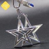 Prix d'usine étoiles gravées en acier inoxydable forme personnalisée de chaîne de clé