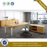 Escritorio de oficina de madera de Exeuctive del panel del metal de la plata de los muebles de oficinas (HX-NJ5064)