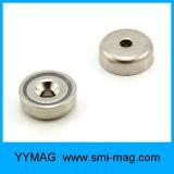 De Magneten van NdFeB van de Pot van Yya met Verzonken Gat voor M5 Schroef