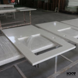 Pure Customized White Marble Bathroom Vanity Signals
