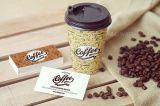 Doppel-wandiger Kraftpapier-Kaffee-Halter-Papiercup mit Kappe