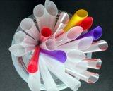 Paja de beber plástica colorida para el té de la burbuja de la perla