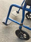 Plegamiento, polvo cubierto, sillón de ruedas fijo del brazo