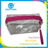 PVC透過防水縞のキャンバスは装飾的な袋をセットする