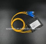 Connettore di Scpc del divisore del PLC della scatola di plastica del connettore 1X4 di Gpon del connettore della fibra