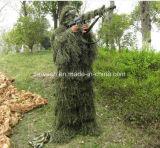 Vestito di Ghillie/vestito del camuffamento/vestiti di caccia, foglio del terreno boscoso