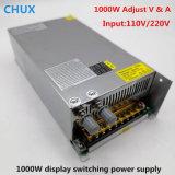 1000W 조정가능한 엇바꾸기 전력 공급 디지털 표시 장치 48V DC 0-12V 24V 36V 60V 80V 120V 220V 디지털 SMPS LED 전력 공급